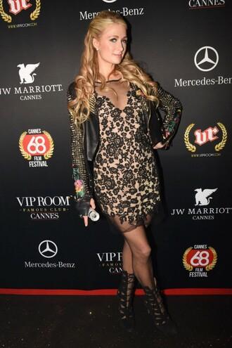 dress cocktail dress paris hilton cannes jacket