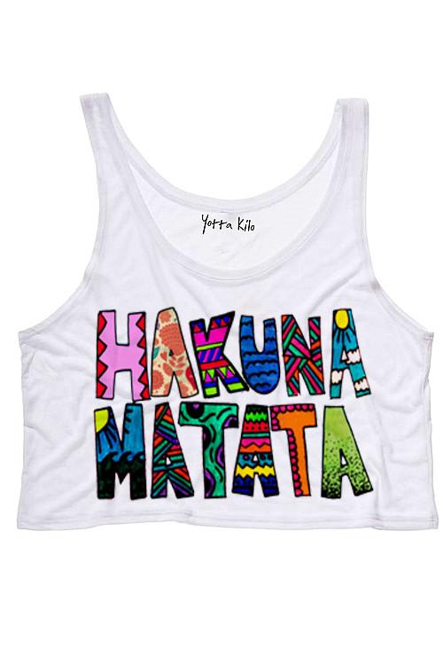 Hakuna Matata Drawing by S Tank Top - Yotta Kilo