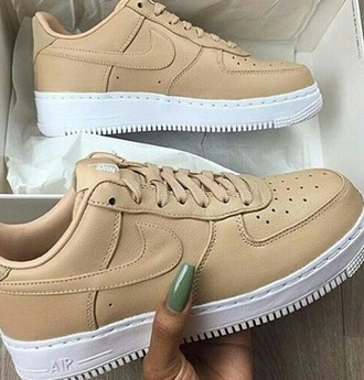 shoes nike nude sneakers nike air force 1 low top sneakers