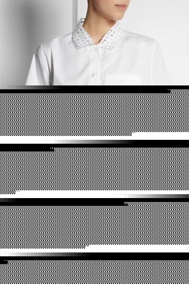 Carven|Broderie anglaise cotton-poplin shirt|NET-A-PORTER.COM