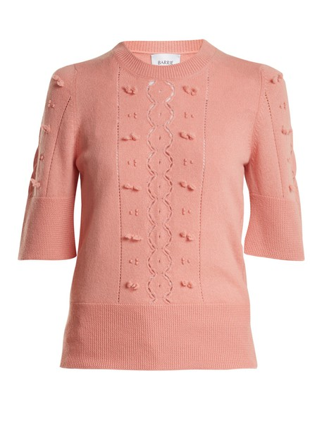 sweater lace light pink light pink