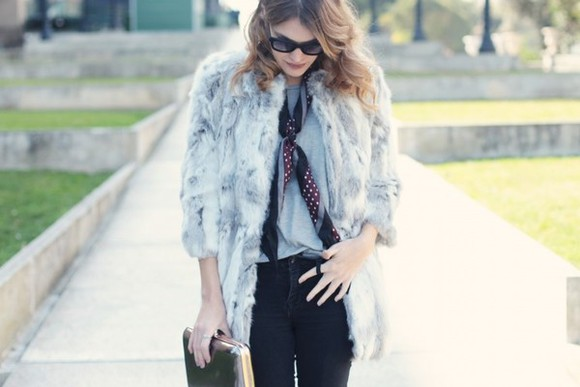 my daily style jeans coat shoes bag sunglasses scarf