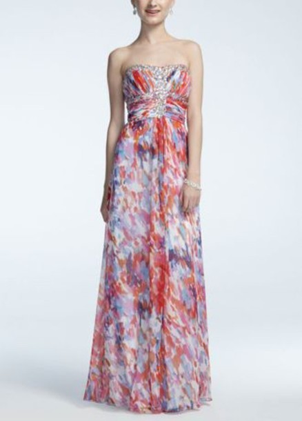 dress prom dress colorful maxi dress