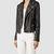 Womens Cargo Leather Biker Jacket (Black/Grey) | ALLSAINTS.com