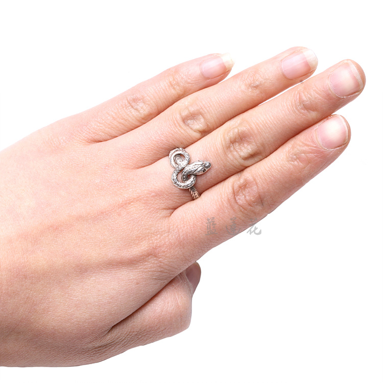 Nepal Handmade 925 Sterling Silver Snake Ring - Wishbop.com