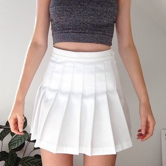 shirt skirt white skirt fashion grunge white dress plaid t-shirt grey crop tops tank top white minimalist kozy tennis skirt high waisted tumblr outfit kawaii grunge hippie