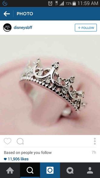 jewels black fingerless gloves disney ring crown ring dimond