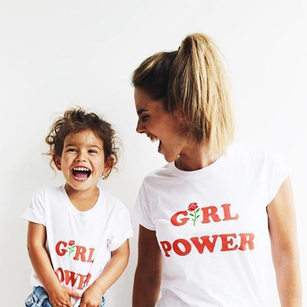 top shirt t-shirt t-shirt girl power flowers make-up hair nails outfit top white shirt print fashion trendy style stylish girl women rights human rights