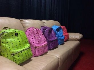 bag backpack neon designer