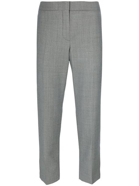 Alexander Mcqueen cropped women wool grey pants