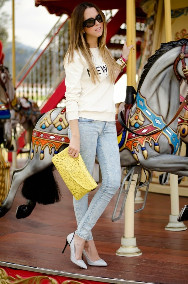 our favourite style sweater jeans bag sunglasses shoes jewels