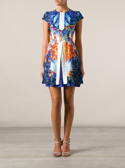 Peter Pilotto Printed Layered Dress - Banner - Farfetch.com