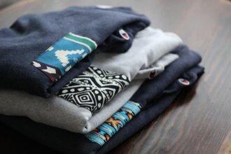 pocket t-shirt aztec sweater clothes tumblr t-shirt shirt pocket navy white gray cute