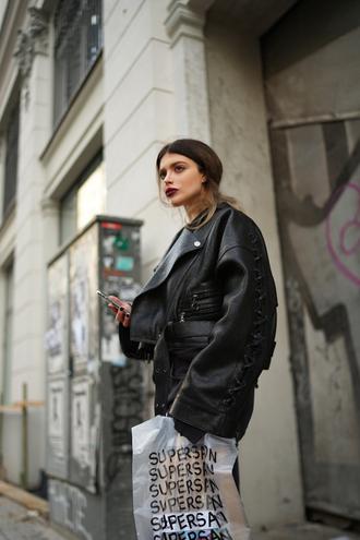 jacket tumblr black jacket leather jacket black leather jacket skirt mini skirt leather skirt all leather streetstyle