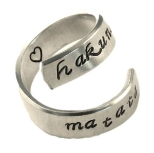 Amazon.com: Hakuna Matata Ring - Adjustable Aluminum Wrap Ring with Stamped Heart: Everything Else