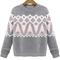 Geometric print knit sweater