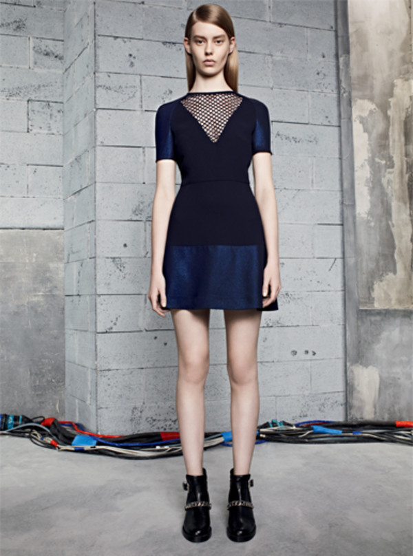 dress sandro fashion lookbook shoes