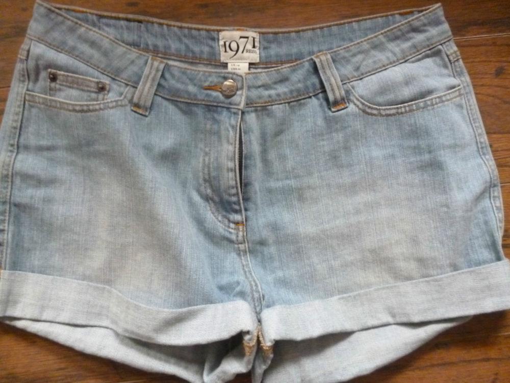 Reiss 1971 Denim Shorts UK14 | eBay