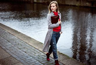framboise fashion blogger jacket sweater jeans bag shoes jewels
