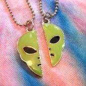 jewels,alien,science fiction,necklace,jewelry,friendship,green,90s style