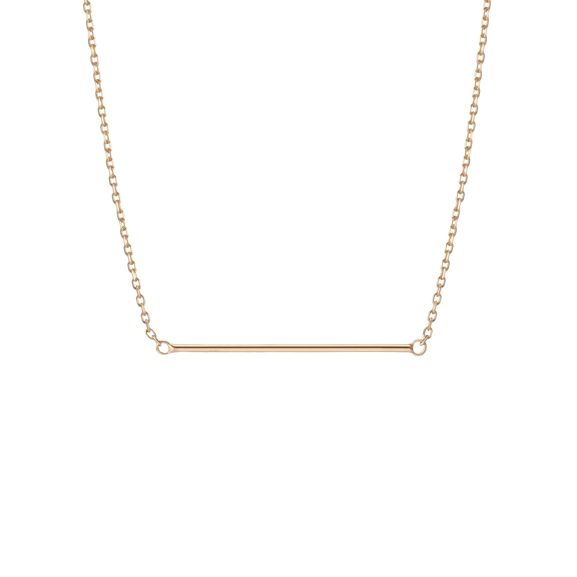 Lariat Bar Necklace in Yellow, Rose or White Gold.