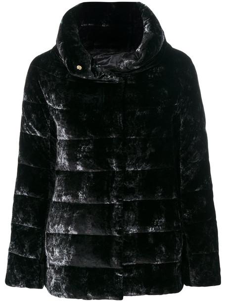Herno jacket women black silk