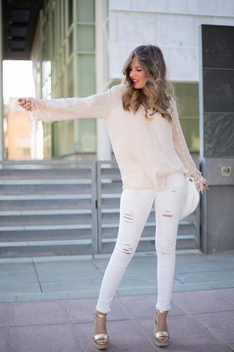 mi aventura con la moda blogger blouse jeans bag jewels shoes shirt
