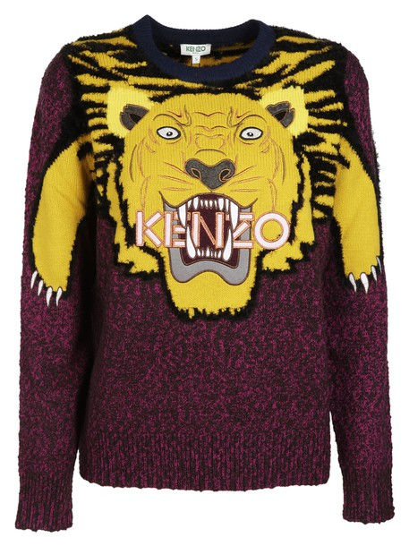 Kenzo sweater tiger purple pink