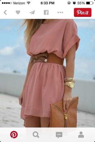 dress fashion style work summer dress hat belt