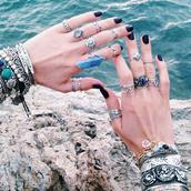 jewels,jewelry,turquoise,bracelets,bangle,cuffs,ring,silver,dixi,shopdixi,shop dixi,festival,hippie,boho,bohemian,gypsy,gypset,crystal quartz,crystal,stone,jewelry ring,turquoise jewelry,above the knuckle ring,above knuckle ring,festival jewelry,gypsy jewelry,gypsy jewels,gypsy jewelery,crystals ring,crystal jewelry,crystal jewels,stone jewelry