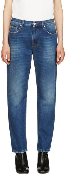 MSGM jeans fur blue