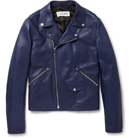 Loewe - Leather Biker Jacket | MR PORTER