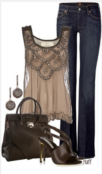 blouse sparkle sparkely top nude lace shirt tank top sheer rhinestones semi-sheer grey top embellished top