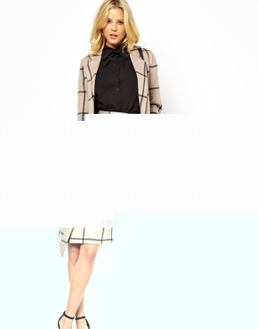 ASOS | ASOS Pencil Skirt with Wrap in Check at ASOS