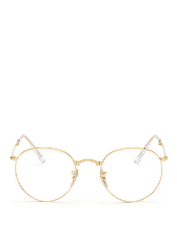 sunglasses gold glasses glasses black round  glasses rayban