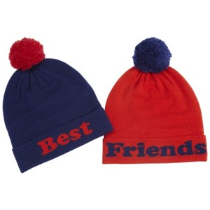 Whether you're together or miles apart, you and your bestie will love wearing our Best Friends Beanies. These warm and cozy beanies are perfect for cold climates. You'll love .