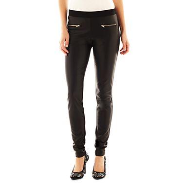 Allen B.® Faux-Leather Leggings - jcpenney