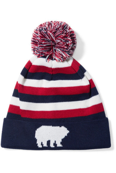 Perfect Moment beanie navy wool hat