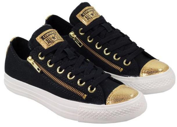 free shipping 1bd0a 0192b shoes black gold converse