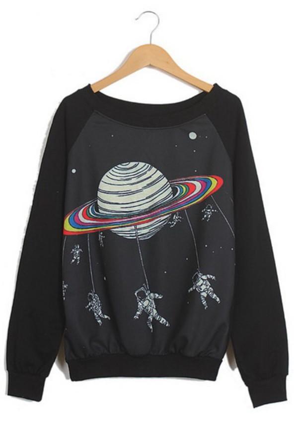 black sweater space