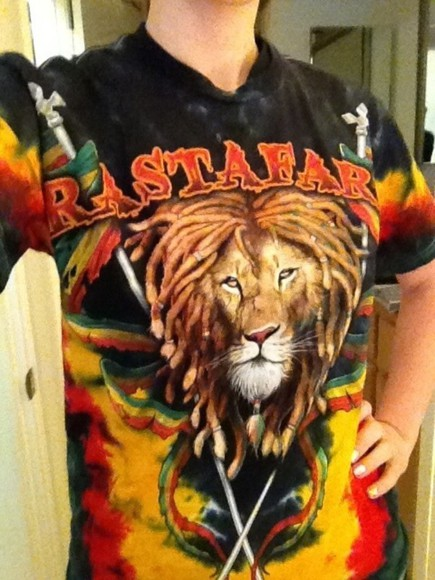 rasta shirt rastahippie scarf lion shirt rasta skirt