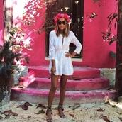 dress,boho,white dress,hippie,hipe,fashion,indie,vintage,grunge,blouse