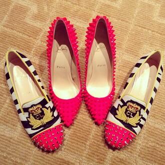 shoes high heels stud heels red high heels red shoes luxury