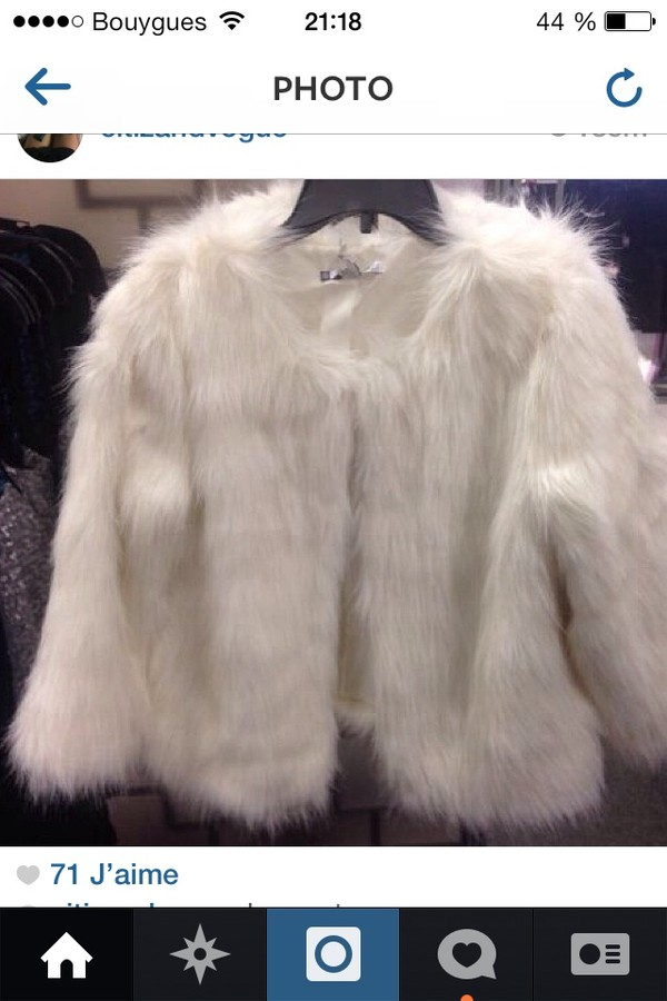 coat miley cyrus faux fur coat white coat perf perfect