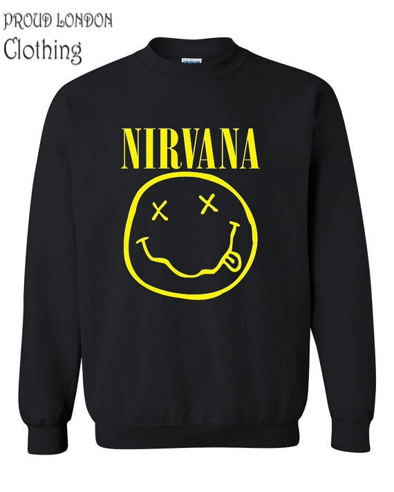 NIRVANA SMILEY FACE SWEATSHIRT | eBay