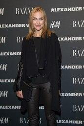 coat,black coat,meryem uzerli,actress,celebrity style,celebrity,black