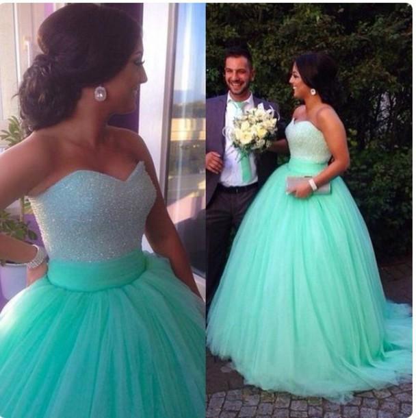 turquoise, prom dress, prom, sherri hill, dress, ball gown dress ...