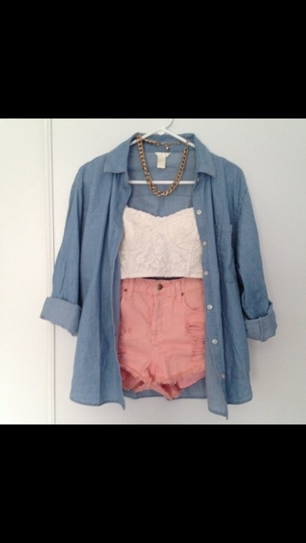 shorts blouse tank top dress jacket