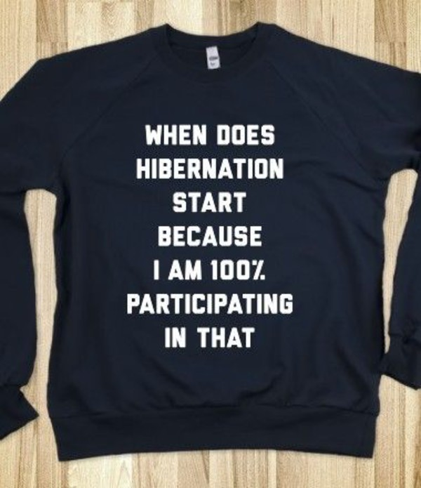 t-shirt funny shirt black shirt hibernation