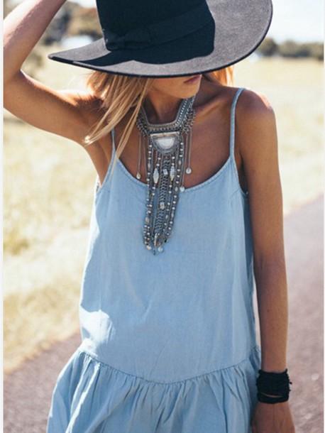 jewels necklace silver necklace boho jewelry